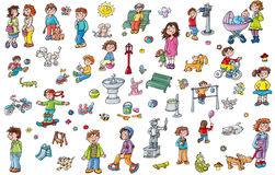 For kindergartens animal stickers window Stock Image