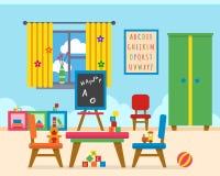 Kindergartenvorschule- Spielplatz Stockbilder