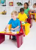 Kindergartners stock image