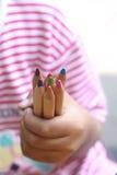 Kindergriff-Farbbleistifte Stockfotografie