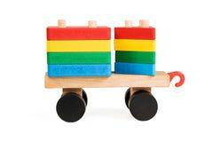 Kinderhölzerner Lastwagen - Pyramide Lizenzfreie Stockbilder