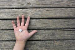 Kinderhand Stockbild