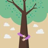 Kinderhandumarmungsbaum Stockfotografie