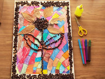Kinderhandwerk Lizenzfreie Stockfotos