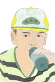 Kinderhydratisierung Lizenzfreies Stockbild