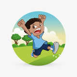 Kinderikone Kinderdesign Kindheitskonzept Lizenzfreie Stockfotografie