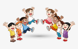 Kinderikone Kinderdesign Kindheitskonzept Lizenzfreie Stockfotos