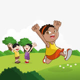 Kinderikone Kinderdesign Kindheitskonzept Stockfoto