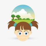 Kinderikone Kinderdesign Kindheitskonzept Stockfotografie
