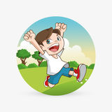 Kinderikone Kinderdesign Kindheitskonzept Lizenzfreie Stockbilder
