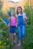 Kinderjaren, gelukkige gezonde jonge geitjes Stock Afbeeldingen