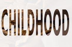 Kinderjaren in het symbool Stock Fotografie