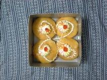 Kinderjarencake stock foto's