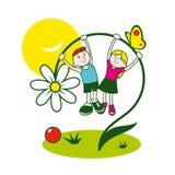 Kinderjarenteken vector illustratie