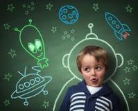 Kinderjarenverbeelding en dromen Stock Fotografie