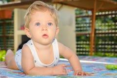 Kinderjungenkriechen Stockbilder