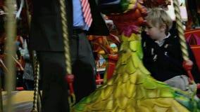 Kinderkarussell stock footage