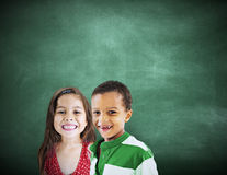 Kinderkinderverschiedenartigkeits-Bildungs-Glück-nettes Konzept Stockfotos