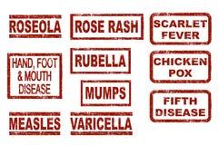 Kinderkrankheiten lizenzfreie abbildung