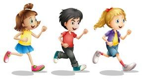 Kinderlaufen Stockfoto