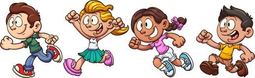 Kinderlaufen lizenzfreie abbildung