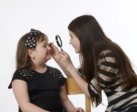 Kindermake-up stockbild