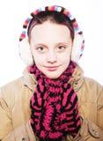 Kindermädchen mit Winterkleidung Lizenzfreies Stockbild