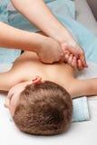 Kindermedizinische Massage Stockbild