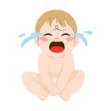 Kindermeisje dat de Baby voedt vector illustratie