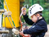 Kindermontage carabiner Stockfoto