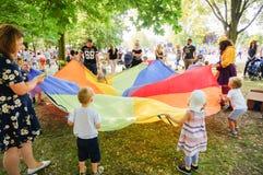 Kindernalia park event stock photography