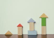 Kinderpädagogische Block-Spielzeugentwicklung Stockfoto