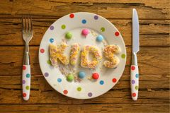 Kinderpartei-Lebensmittel Stockbilder