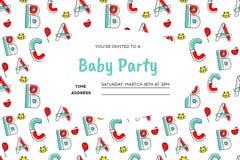 Kinderparteieinladung stockbild