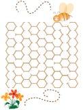 Kinderpuzzlespiel-Spielhilfe die Biene Stockfotografie
