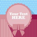 Kinderraum-Kreis-Text-Feld-Hintergrund, flache Vektorillustration Stockfotografie