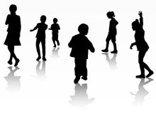 Kinderschattenbilder Lizenzfreies Stockbild