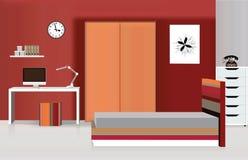 Kinderschlafzimmer-Innenhintergrund mit Möbeln Lizenzfreies Stockfoto