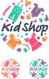 Kindershop Kleidung für Kinder vektor abbildung