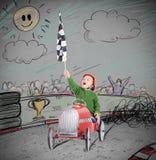 Kindersiegerrennen Stockbild