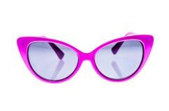 Kindersonnenbrille, -Sonnenblenden oder -schauspiele lokalisiert auf Weiß lizenzfreie stockfotos