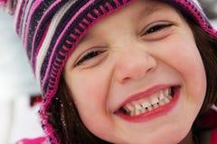 Kinderspaß auf dem Schnee Stockfoto