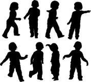 Kinderspiel und Bewegung Lizenzfreies Stockfoto