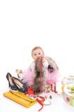Kinderspiele mit Schmucksachen stockfotos