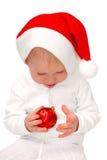 Kinderspiele mit Weihnachtsspielzeug stockfoto