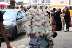 Kinderspiele ` Schafe ` populärer Markt lizenzfreie stockfotos