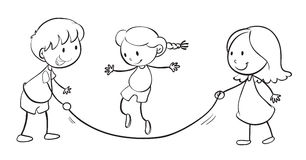 Kinderspielen lizenzfreie abbildung