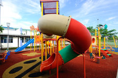 Kinderspielplatz im Freien in Selangor, Malaysia Lizenzfreie Stockfotografie