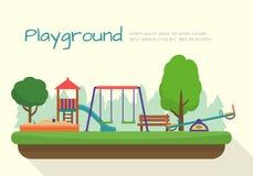 Kinderspielplatzsatz Lizenzfreies Stockbild