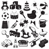 Kinderspielwaren-Ikonen-Satz Lizenzfreie Stockfotografie